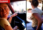 Miley Cyrus -- Braless Car Shopping [VIDEO]