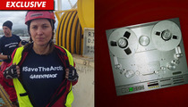 Lucy Lawless -- Belting Out 'Xena' War Cries During Oil Tanker Protest