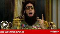 Sacha Baron Cohen RIPS The Academy -- You're Just Like an Evil Dictator!