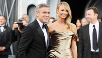 George Clooney Arrives with His Golden Trophy Stacy Keibler
