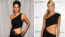 Halle & Beth Stomach Each Other's Look