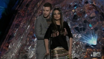 Timberlake and Mila Kunis -- Genital Grope on MTV