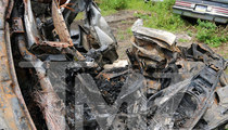 Ryan Dunn's Porsche -- Scorched Heap of Scrap Metal