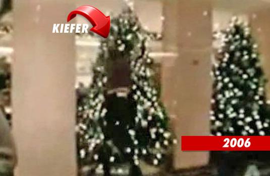 kiefer sutherland tackles christmas tree again celebrity videos tmzcom - Kiefer Sutherland Christmas Tree