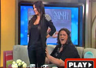Australian Talk Show -- Kim K. Is a Handful!
