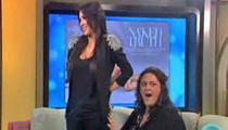Australian Talk Show -- Kim K. Is a Handful!