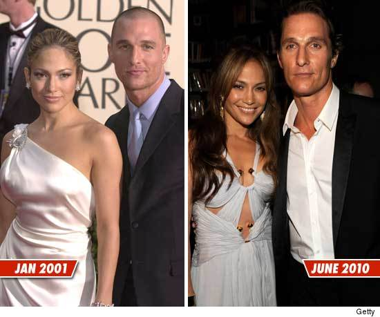 Nearly A Decade After Teaming Up On Their 2001 Hit The Wedding Planner Left Jennifer Lopez And Matthew Mcconaughey Joined Forces Again At An Event In