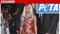 PETA -- Gaga's Meat Dress is a Maggot Magnet