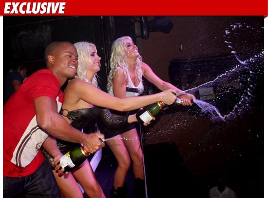 Smallville Star -- Court-Ordered Champagne Shower