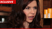 Soap Star Finola Hughes -- Sideswiped Pedestrian, Parked Car