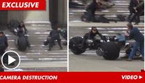 Batman Stunt GONE WRONG -- Catwoman Crushes Camera