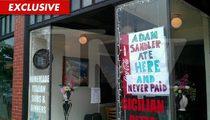Adam Sandler:  I Did NOT Dine and Dash!