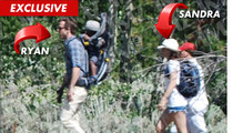 Ryan Reynolds & Sandra Bullock On Vacation, Take a Hike in Wyoming