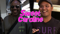Stevie Wonder -- Sings 'Sweet Caroline' at LAX