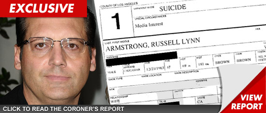 Russell armstrong suicide pictures