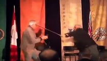 Two Old Guys BRAWL at Canadian Football League Event