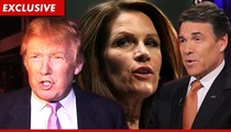 Donald Trump --  Michele Bachmann and Rick Perry Are COWARDS