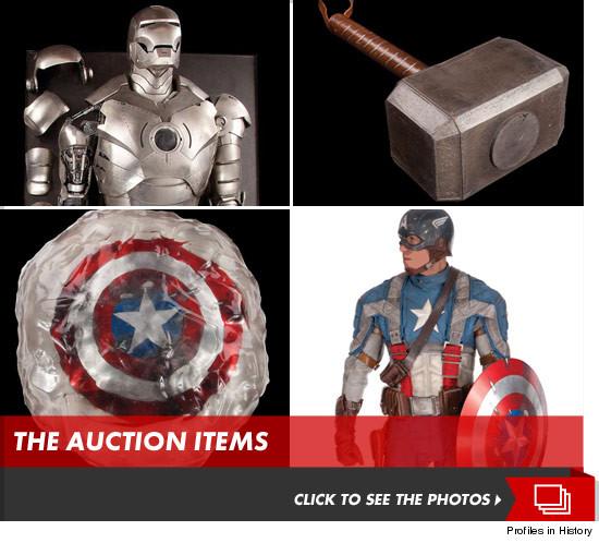 Avengers Memorabilia Captain Americas Shield Thors