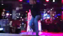 Vince Neil -- Coolest Stage Fall Recovery Ever