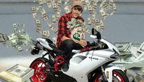Justin Bieber -- Two Wheel Ballin' on New $20k Ducati Superbike