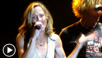 Sheryl Crow -- CHOKES On Stage ... 'My Brain Has Gone to S**t!'