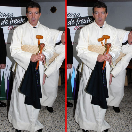 Can you spot the THREE differences in the Antonio Banderas picture?