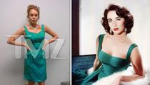 Lindsay Lohan Declares Wardrobe on Liz Taylor