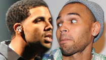 Drake -- Middle Fingers and Trash Talk Spark Brawl with Chris Brown