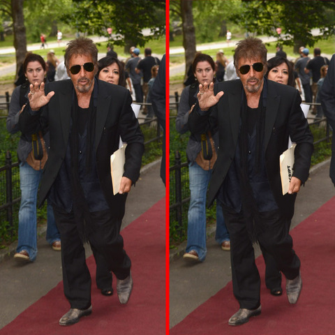 Can you spot the THREE differences in the Al Pacino picture?