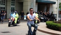 Simon Cowell -- SURROUNDED BY COPS ... On Tiny Scooter