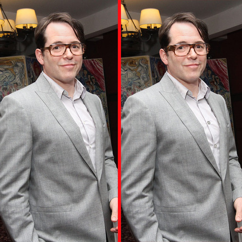 Can you spot the THREE differences in the Matthew Broderick picture?