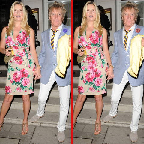 Can you spot the THREE differences in the Rod Stewart and Penny Lancaster picture?