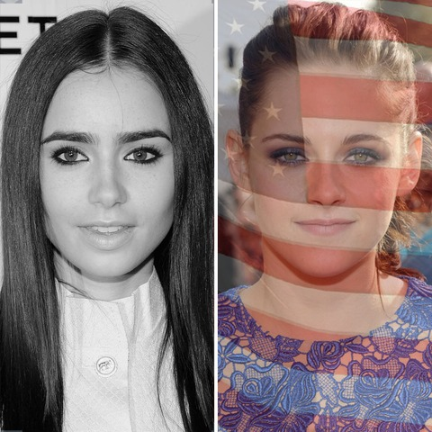 Lily Collins was born in England. Kristen Stewart was born in the USA!