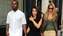 Kanye West & Kim Kardashian -- Touchy-Feely in Paris