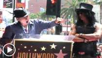 Slash -- Axl Rose Bashing at Walk of Fame Induction