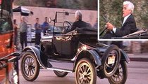 Jay Leno Gets a Ride from a Model ... T