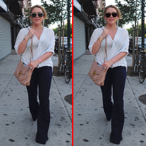 Can you spot the THREE differences in the Hilary Duff picture?