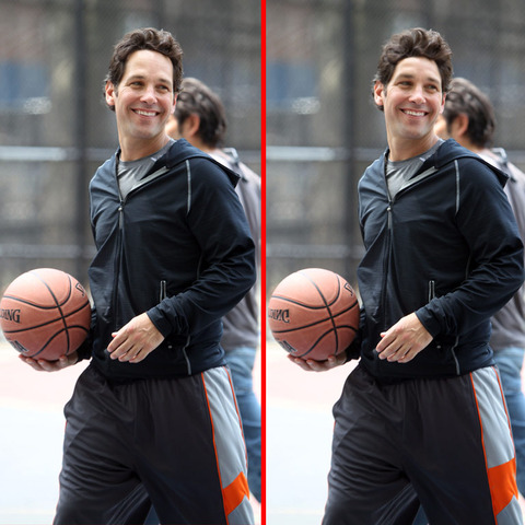 Can you spot the THREE differences in the Paul Rudd picture?