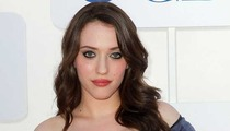 '2 Broke Girls' Star Kat Dennings -- Cleavage Battle with 'Mad Men' Chick Christina Hendricks