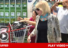 Joan Rivers HANDCUFFS Herself to Shopping Cart in Anti-Costco Protest