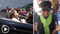 Steven Tyler -- Dude Freaks Out a Lady On TMZ Tour