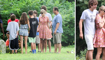 Taylor Swift -- Joins Kennedy Family to Visit BF's Mom's Grave