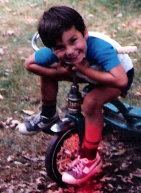 Before he was a spinning star --this little biker was just another kid growing up in Rhode Island.