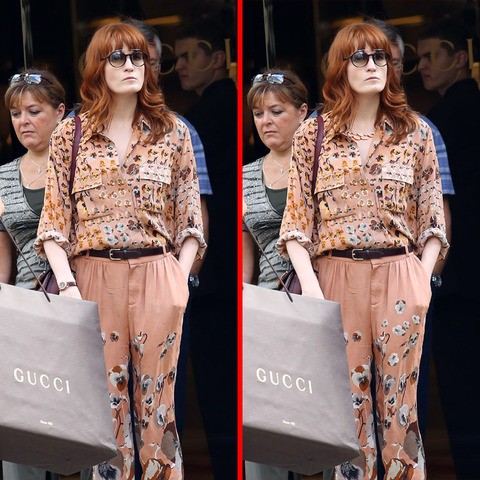 Can you spot the THREE differences in the Florence Welch picture?