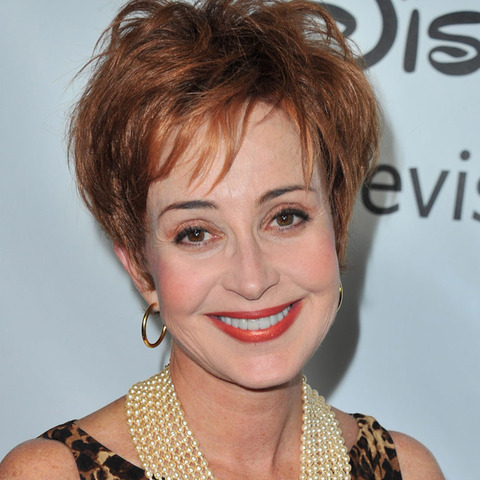 Annie Potts was seen looking glamorous.