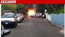 Tyler Perry Writer's Car EXPLODES