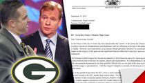 Green Bay Mayor to Roger Goodell -- You're Crushing the Packers' Shot at a Super Bowl