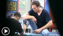 Michael C. Hall -- 'Dexter' Star Gets Tatted Up in L.A.