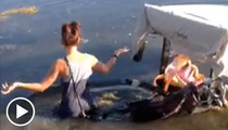 Ex-'Bachelorette' Jillian Harris Dives Into Water Hazard To Save Sinking Golf Cart