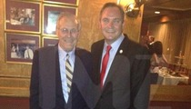 Tareq Salahi Crashes Photo with DONALD RUMSFELD